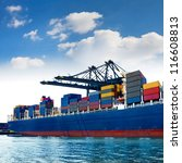 cargo sea port. sea cargo... | Shutterstock . vector #116608813