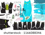 cats collage poster graphic...   Shutterstock .eps vector #1166088346