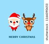 merry christmas  cartoon... | Shutterstock .eps vector #1166090653