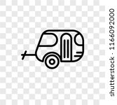 caravan vector icon isolated on ... | Shutterstock .eps vector #1166092000