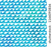 decorative wave shapes pattern. ... | Shutterstock .eps vector #1166093836