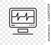 cardiogram vector icon isolated ... | Shutterstock .eps vector #1166095339