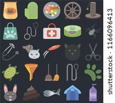 set of 25 icons such as shampoo ...
