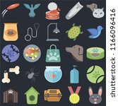 set of 25 icons such as rabbit  ... | Shutterstock .eps vector #1166096416