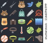 set of 25 icons such as dog ... | Shutterstock .eps vector #1166096599