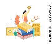vector business success concept ... | Shutterstock .eps vector #1166096839