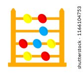 vector abacus icon  school  ... | Shutterstock .eps vector #1166104753