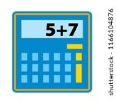 calculator icon vector. savings ... | Shutterstock .eps vector #1166104876