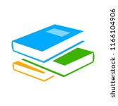 vector books library... | Shutterstock .eps vector #1166104906