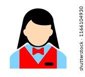 silhouette waitress  waiter... | Shutterstock .eps vector #1166104930