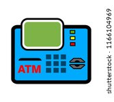credit card machine icon  ... | Shutterstock .eps vector #1166104969