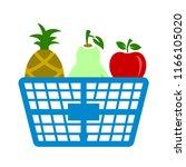 fresh fruit basket illustration ... | Shutterstock .eps vector #1166105020