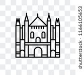 milan cathedral vector icon... | Shutterstock .eps vector #1166105653