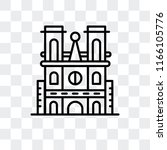 notre dame cathedral vector... | Shutterstock .eps vector #1166105776