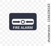 fire alarm vector icon isolated ... | Shutterstock .eps vector #1166106163