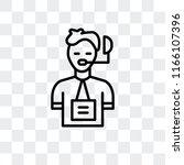 commentator vector icon... | Shutterstock .eps vector #1166107396