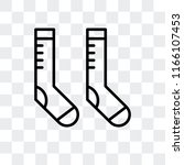 socks vector icon isolated on... | Shutterstock .eps vector #1166107453