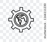 settings vector icon isolated... | Shutterstock .eps vector #1166111230