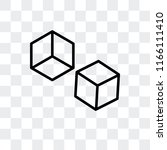 cube vector icon isolated on... | Shutterstock .eps vector #1166111410