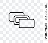 depth perception vector icon... | Shutterstock .eps vector #1166112103