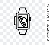 smartwatch vector icon isolated ... | Shutterstock .eps vector #1166112169