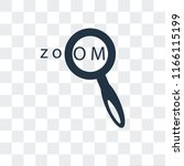 zoom in vector icon isolated on ...   Shutterstock .eps vector #1166115199