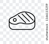 steak vector icon isolated on...   Shutterstock .eps vector #1166115259