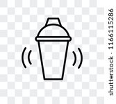 shaker vector icon isolated on... | Shutterstock .eps vector #1166115286