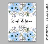 blue anemone wedding invitation | Shutterstock .eps vector #1166116366