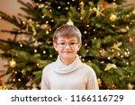 happy boy schoolboy with... | Shutterstock . vector #1166116729