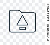 upload vector icon isolated on... | Shutterstock .eps vector #1166119816