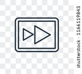 fast forward vector icon... | Shutterstock .eps vector #1166119843