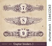 retro floral chapter dividers ... | Shutterstock .eps vector #116612263