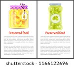 preserved food posters ... | Shutterstock .eps vector #1166122696