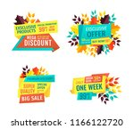 mega discount with big sale off ... | Shutterstock .eps vector #1166122720