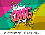 omg ouch oops wow comic text...   Shutterstock .eps vector #1166124826