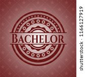 bachelor red emblem | Shutterstock .eps vector #1166127919