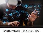 coding software developer work...   Shutterstock . vector #1166128429