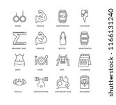 set of 16 simple line icons...   Shutterstock .eps vector #1166131240