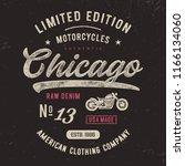 chicago  motorcycles typography....   Shutterstock .eps vector #1166134060