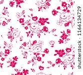 flowers seamless pattern... | Shutterstock .eps vector #1166134729