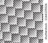 vector seamless black and white ... | Shutterstock .eps vector #1166135026