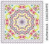 decorative colorful ornament on ... | Shutterstock .eps vector #1166136493