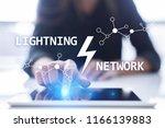 lightning network   second...   Shutterstock . vector #1166139883