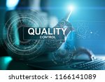 quality assurance. control and... | Shutterstock . vector #1166141089