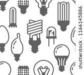 light bulbs seamless pattern... | Shutterstock .eps vector #1166145886