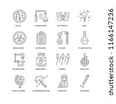 set of 16 simple line icons... | Shutterstock .eps vector #1166147236