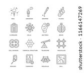 set of 16 simple line icons... | Shutterstock .eps vector #1166147269