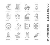set of 16 simple line icons... | Shutterstock .eps vector #1166150770