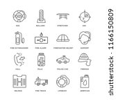 set of 16 simple line icons... | Shutterstock .eps vector #1166150809